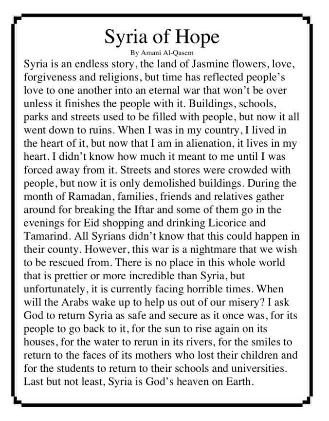 syria of hope story